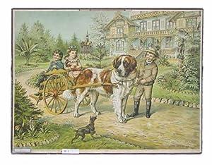 Hundewagen mit Kindern]. Schulwandtafel Nr. 17.: Schulwandtafel - Kull, Alb. (Illustr.)