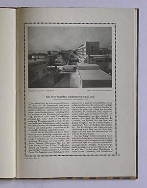 Die Stuttgarter Weisenhof-Siedlung. Werkbund-Austellung «Die Wohnung» 1927.: Düssel, ...