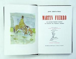 Martin Fierro. El Gaucho Martin Fierro y la vuelta de Martin Fierro.: Hernandez, José - Alberto ...