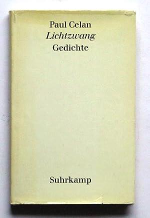 Lichtzwang. Gedichte.: Celan, Paul
