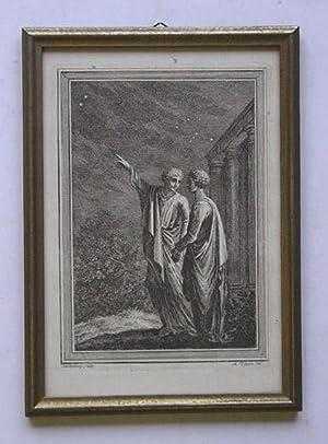O. T. [Zwei händchenhaltende Sternenfreunde]. Kupferstich.: Usteri, Johann Martin - Johann ...