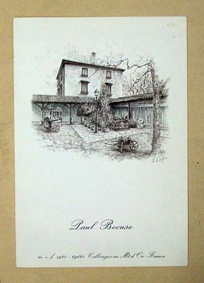 Paul Bocuse Restaurants in Collonges-au-Mt-d?or.: Speisekarte