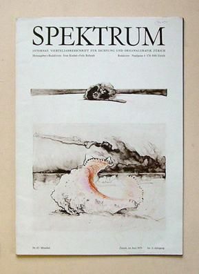 Spektrum Heft 83. Muschel. Vierteljahresschrift für Originalgraphik und Dichtung.: Knebel, ...