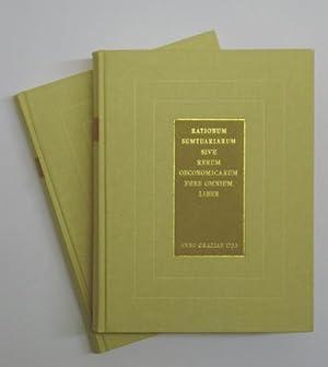 Liber Domesticus (2 Bde.) 1753 - 1779. Rationum sumtuariarum sive rerum oeconomicarum fere omnium ...