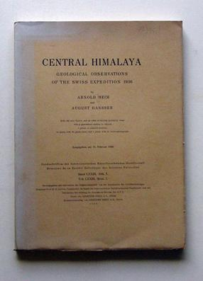 Central Himalaya. Geological observations of the swiss: Heim, Arnold u.