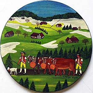 Albaufzug. Öl auf Holz (Bödelli).: Herger, A.