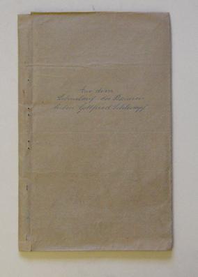 Aus dem Lebenslauf des Bauernbuben Gottfried Schlumpf. Typoskript.: Schlumpf, Gottfried