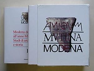 Modena dalle origini all?anno mille studi di archeologia e storia. (2 Bde., compl.).: Cardarelli, ...