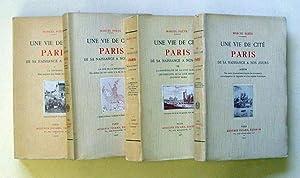 Une vie de cite. Paris de sa naissance a nos jours. (3 Bde. u. Album, compl.).: Poete, Marcel