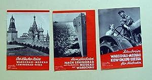 Reisen in die Sowjetunion 1934]. 3 Kleinplakate.
