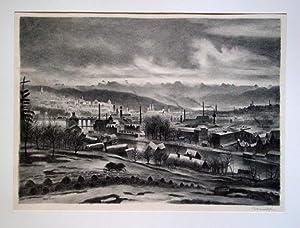 Zürich. Acht Lithographien von Otto Baumberger.: Baumberger, Otto