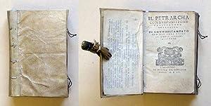Il Petrarcha con l'espositione d'Alessandro Vellutello. Di: Petrarca, Francesco