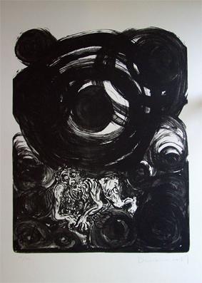 Der erschöpfte Atlas. Lithographie auf HFK-rives- Bütten.: Dürrenmatt, Friedrich