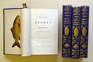 A history of the fishes of the British Islands. (4 Bde. compl.).: Couch, Jonathan