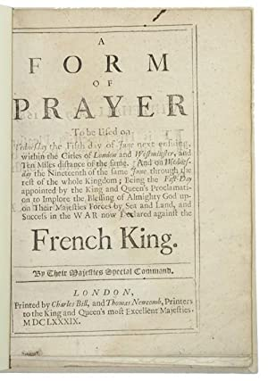 A form of prayer To be Used: CHURCH OF ENGLAND]