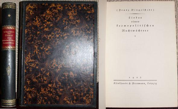 Ranz Dingelstedt) Lieder eines kosmopolitischen Nachtwächters: Dingelstedt, Franz: