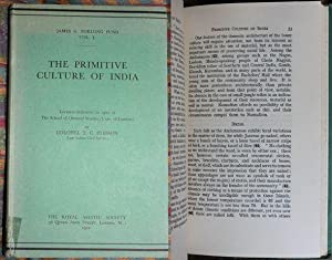 The Primitive Culture Of India Lectures delivered in 1922 at The School of Orientals Studies (Uni...