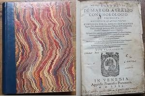 Libro di Marco Aurelio con l'horologio de': Guevara, Antonio di: