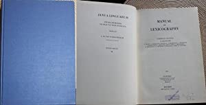 Manual of Lexicography: Zgusta, Ladislav:
