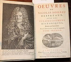 OEUVRES Avec des éclaircissemens historiques, donnez par: BOILEAU DESPREAUX, NICOLAS: