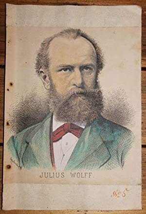 Julius Wolff Portrait Kolorierter Holzstich v. Appelrath Julius Wolff ,* 16. September 1834 in Qu...