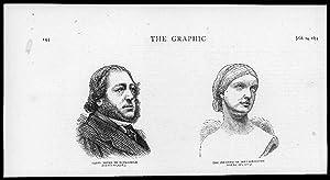 1874 Antique Print - PEOPLE BARON MEYER
