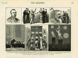 1881 - Antique Print IRELAND Dublin Social