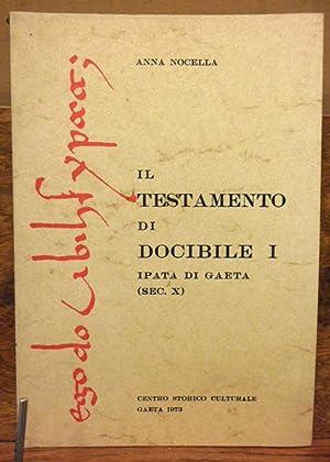 Il testamento di Docibile I , Ipata: Anna Nocella