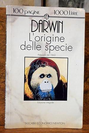 L' origine delle specie abbozzo del 1842: Darwin