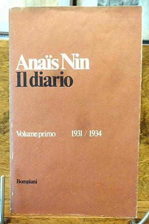 Il Diario Volume primo 1931 / 1934: Anais Nin
