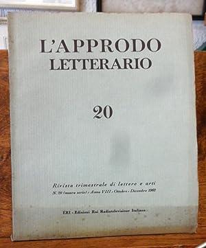 L'Approdo letterario, Rivista trimestrale di lettere e