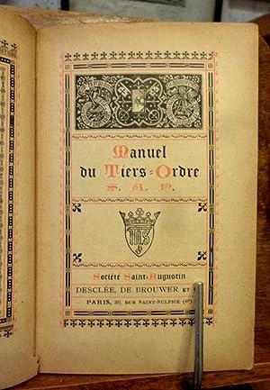 Manuel de Devotion Manuel du Tiers Ordre