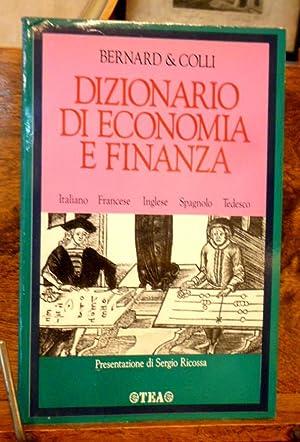 f8452c15d8 Dizionario di economia e finanza. Italiano, francese,: Yves Bernard ,