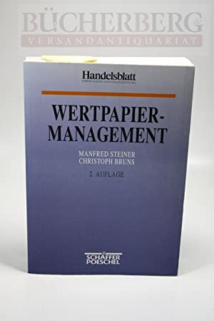 Wertpapiermanagement: Steiner, Manfred und