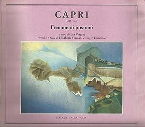 Capri 1905 -1940 Frammenti postumi: Lea Vergine