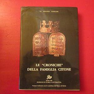 """Le """"Croniche"""" della Famiglia Citone"""