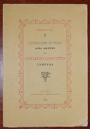 Distribuzione de' premj agli alunni del collegio-convitto CAMPANA: AA.VV.