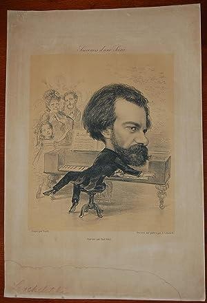 Caricatura del celebre pianista e musicita polacco: Cesare Ciardi