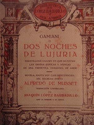Gamiani o Dos Noches De Lujuria: Alfredo de Musset