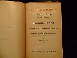 HOJAS LITERARIAS PARA NIÑOS: MANUEL IBARZ