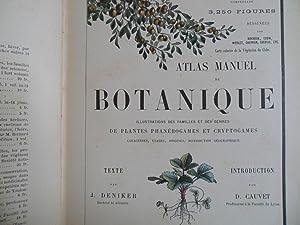 ATLAS MANUEL DE BOTANIQUE: J. DENIKER- D.