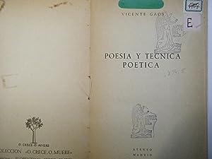 POESIA Y TECNICA POETICA: VICENTE GAOS