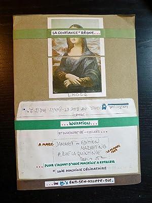 Künstlerisch gestalteter Brief (Mail Art) eines unbekannten: MAIL ART: