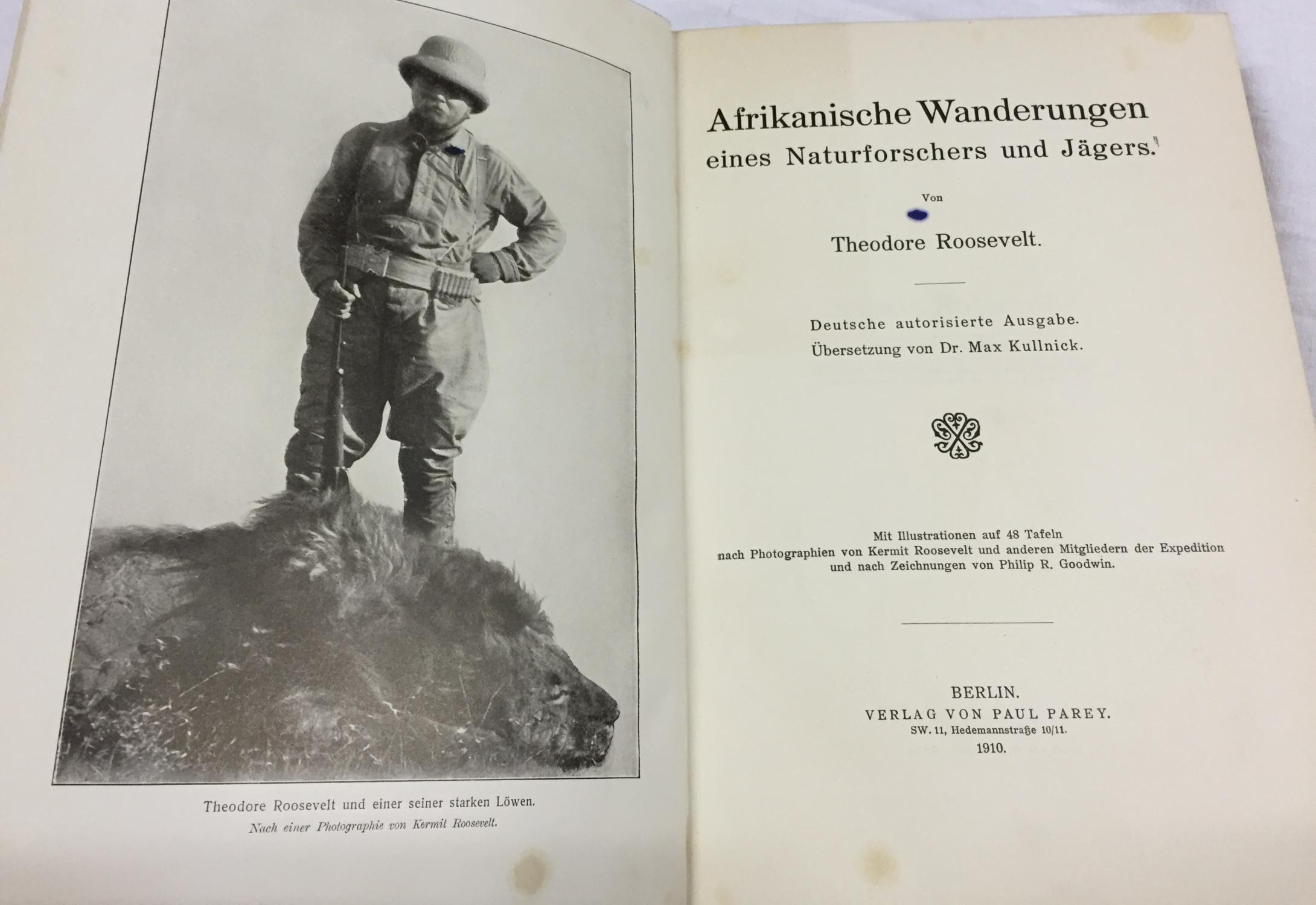 Afrikanische Wanderungen ( eines Naturforschers und Jägers: Roosevelt, Theodore