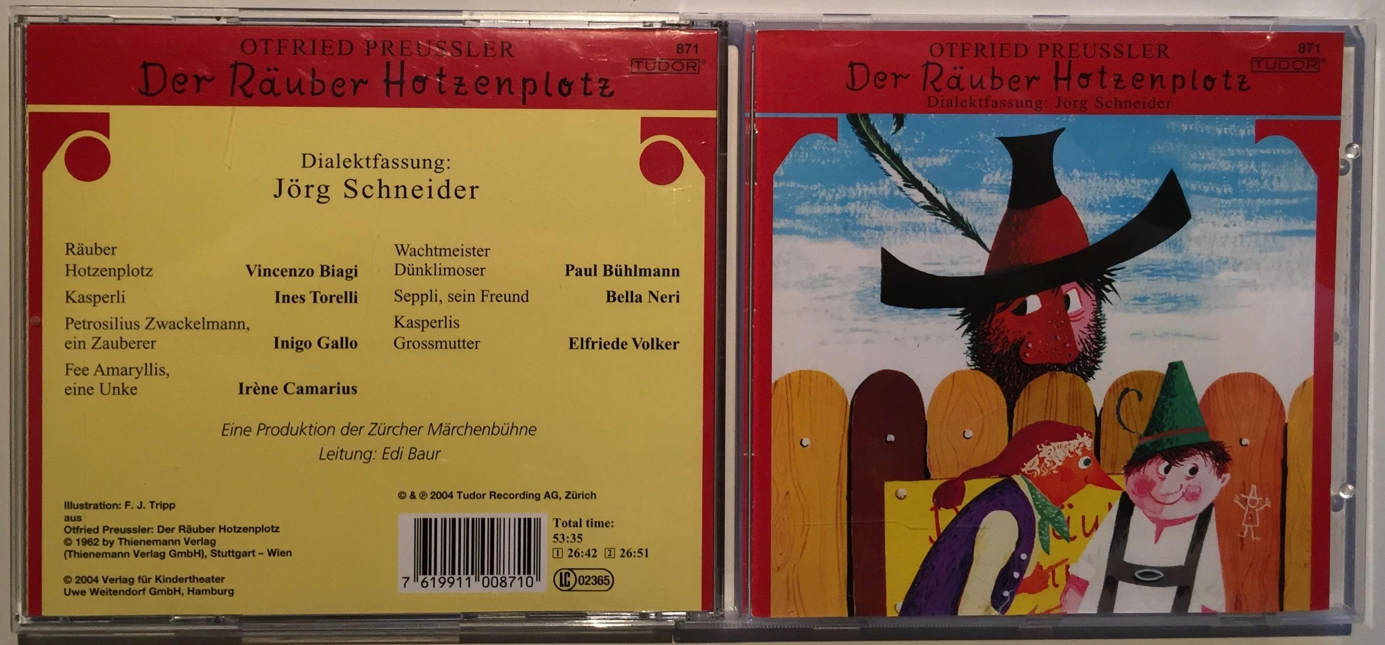 CD) Der Räuber Hotzenplotz. Dialektfassung: Jörg Schneider.: Preussler, Otfried