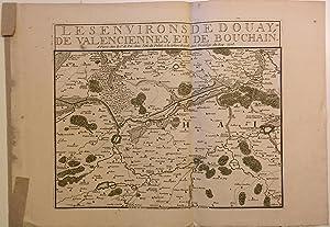 Carte) Les Environs de Douay, de Valenciennes,