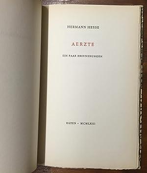 Ärzte. Ein paar Erinnerungen: Hesse, Hermann
