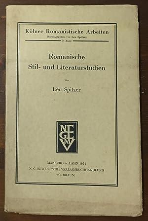 Romanische Stil - und Literaturstudien II. (Zweiter: Spitzer, Leo