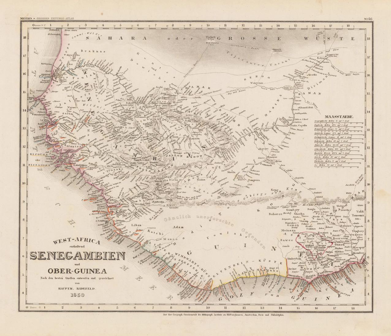 West-Africa enthaltend Senegambien und Ober-Guinea Nach den: Radefeld, Hauptmann von