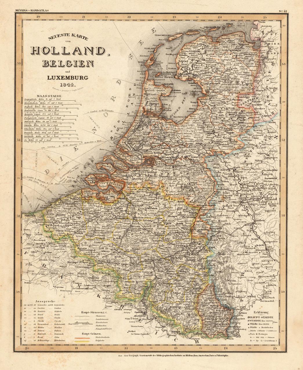 Karte Von Holland Und Belgien.Neueste Karte Von Holland Belgien Und